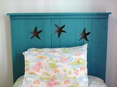 Starfish headboard project for the shore.