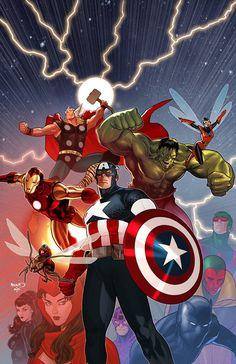 Avengers by Paul Renaud