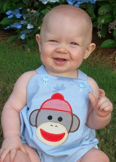 Sock Monkey Romper