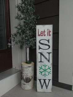 Let it Snow Chrismtas sign. 6x26 sign/ Christmas sign/ Let it Snow sign…