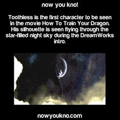 I tried searching for Toothless in HTTYD 2, NOTHING! At ALL! Just a plain night sky! Every DreamWorks intro is Different based on the movie. So why does HTTYD 2 have nothing!?!?! (ROTG had Jack Frost on the moon)