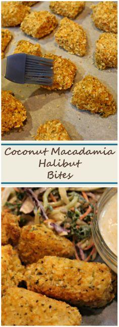 Coconut Macadamia Halibut Bites | this Fox Kitchen