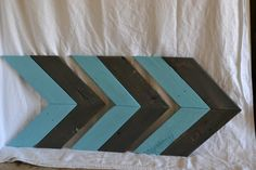 Grey & aqua arrow set of 3 by TarnishedchicDesigns on Etsy
