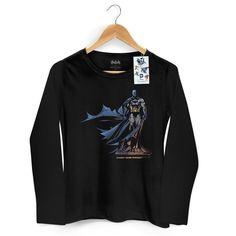 Camiseta Feminina de Manga Longa Batman The Dark Knight 2 #Batman #bandUP #LojaDCComics #TheDarkKnight