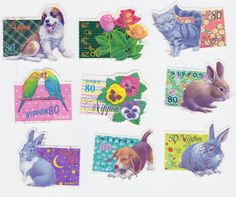 Super Cute Animal Shaped Postage Stamps