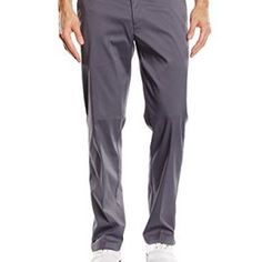 NIKE Men's Trousers Flat Front, Dark Grey, 639779-021 34-32