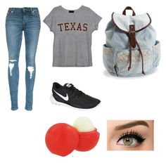 """""""Untitled #18"""" by helloimlilly on Polyvore featuring NIKE, Aéropostale, Eos, women's clothing, women, female, woman, misses and juniors"""