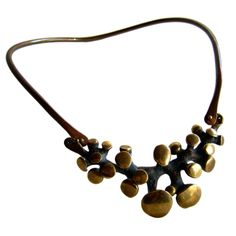 JACK BOYD Studio Bronze Necklace | From a unique collection of vintage more necklaces at http://www.1stdibs.com/jewelry/necklaces/more-necklaces/