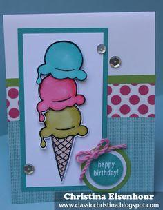 CTMH Ice Cream Dream stamp set