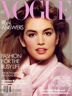 During the 1980s and 1990s, Cindy Crawford was among the most popular supermodels, and a ubiquitous presence on magazine covers, runways, and in fashion campaigns. Description from flickr.com. I searched for this on bing.com/images