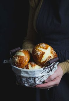 You will love these soft, fairly light bread buns with a chewy and salty pretzel-like crust around the outside that's perfectly golden brown too.Use pretzel rolls for sandwiches, burgers, hot dogs, or dip them in some grainy mustard. They are delicious on their own too! Pretzel rolls, aka Laugenbrötchen, are a standard item in German bakeries.Walking down the road to get a fresh pretzel roll was my favorite thing to do while I lived there.Now it takes a car-ride to the nearest Ben's…