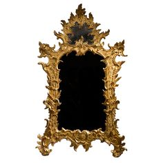 German Rocaille Giltwood Mirror  Germany  Mid-18th Century