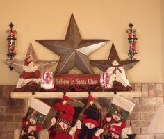 Our Christmas themed mantel