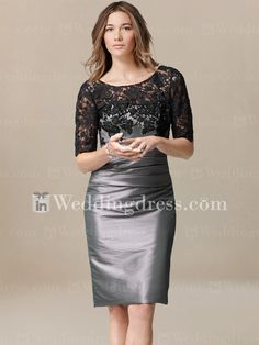 informal mother of the bride dresses_Charcoal