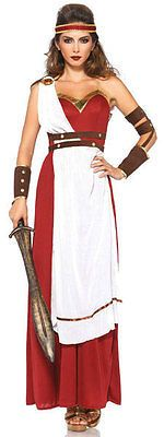 Fight off any unwanted admirers this Halloween when you look fierce in our Spartan Goddess Sexy Costume. The elegant long red dress comes with apron and belt detail, arm wraps and headband. Adult Costumes, Costumes For Women, Halloween Costumes, Roman Costumes, Greek Costumes, Adult Halloween, Cosplay Costumes, Gladiator Costumes, Greek Dress