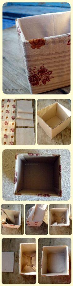 Обтяжка коробки тканью
