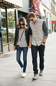 Couple black and white outfit