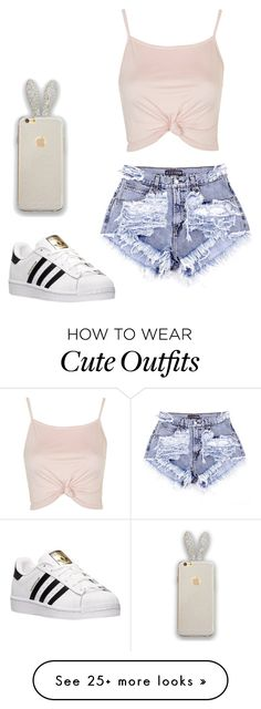 """""""summer outfits"""" by queennailah on Polyvore featuring Topshop and adidas"""