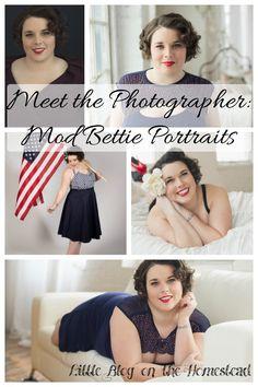 Meet the Photographer: Mod Bettie - http://www.littleblogonthehomestead.com/mod-bettie/
