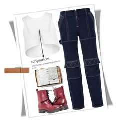 """Scripturient"" by juliehalloran ❤ liked on Polyvore featuring moda, Opening Ceremony, Maticevski e Peek"
