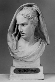 Francois Rude (1784 - 1855) - Expressive head Attention andFear