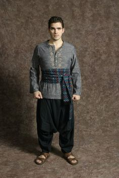 $20.00 Costume Rental  Joseph Brother #11  blue/red check sash, navy harem pants, blue/grey shirt