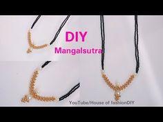 DIY || How To Make Mangalsuthra With Black Beads||Latest Model.. - YouTube