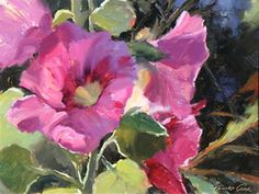 Hollyhocks | From a unique collection of paintings at https://www.1stdibs.com/art/paintings/paintings/
