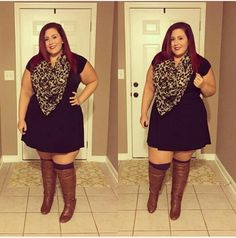 Are you a plus size woman constantly struggling to find outfits to wear? Well, you're in luck, because we've got some great plus size outfit ideas for fall. Plus Size Fall Outfit, Plus Size Fashion For Women, Plus Size Women, Plus Size Outfits, Plus Fashion, Womens Fashion, Fashion Trends, Plus Size Boots, Fashion 2016