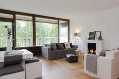 Uitpondproject ingericht door casa&co. met meubels van karton voor de verkoop. Styling door casa&co.