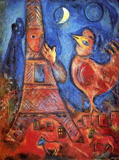1942 Marc Chagall Bonjour Paris