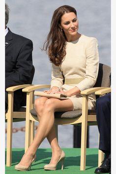 Kate Middleton's Mini Skirt - The Queen Objects to the Length of Kate's Skirt - ELLE