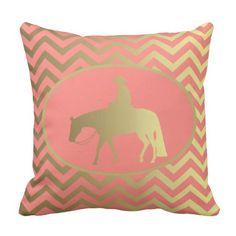 Golden Western Pleasure Horse Pillow #Palomino #WesternPleasure