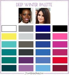 Best colors for Deep Winter seasonal color women; Deep Winter color palette | #DeepWinter #colorpalette