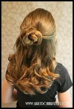 Girly Do's By Jenn: Easiest Quickest Prettiest Bun in the WORLD
