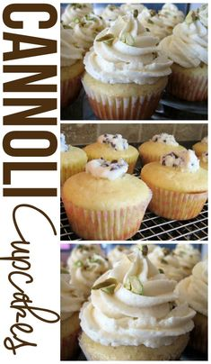 These Cannoli Cupcakes have all the flavors of a traditional cannoli, but packed into cupcake form!   I HAVE to make rhese! I heart cannolis...