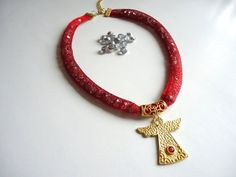 Angel Red  Sparkles Crystal Beads etsy coupon code  by bytugce, $29.00