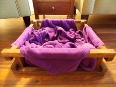 I Think This Could Be A Diy Project Blanket Dog Bed Ique With Large So Dogs Can Dig Around To Get Comfy The Sy Wood Frame Is Securely
