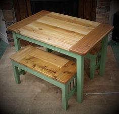 Kids Rustic Farmhouse Table / A Little Taller Kids Table Set