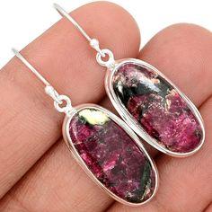 Eudialyte 925 Sterling Silver Earrings Jewelry EDLE44