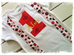 MICKEY MOUSE ONESIE with Name-Boys 1st Birthday Outfit on Etsy, $24.95
