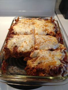 Baked Mostaccioli from Donatelli's.  was a Diners, Drive Ins & Dives recipe.  May have been best tomato based sauce I've ever made.