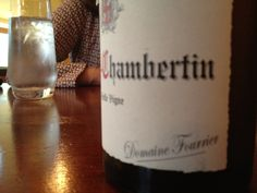 #Burgundy Gevrey Chambertin served by Sommelier Mark Sayre at Four Seasons Trio restaurant in Austin 4/13/12-Domaine Fourrier GC VV