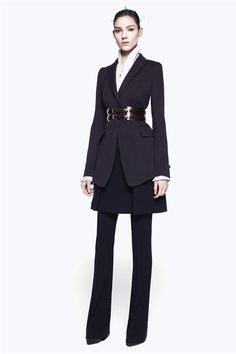 This modern take on the woman's suit is everything. Thank you Sarah Burton!