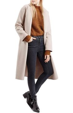 Topshop Belted Wrap Coat available at #Nordstrom