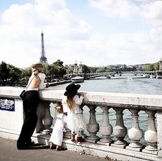 Sheree Commerford with her two children in Paris