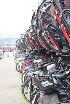 Bicycle parking Amsterdam The Netherlands   ENJOY! The Good Life   http://www.enjoythegoodlife.nl