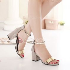 """Gilberta"""" Ankle and Toe Strap Low Chunky Heel Sandals - Black ..."""