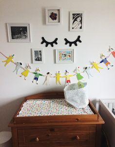 Nursery art changing table