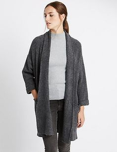 Oversized Long Sleeve Coatigan | M&S